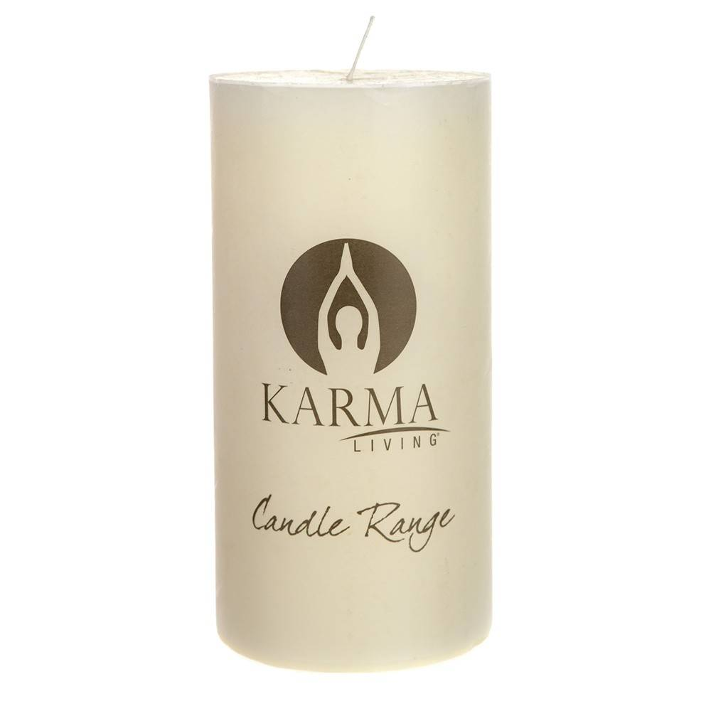 UNSCENTED CANDLE Pillar Round White 10x20cm