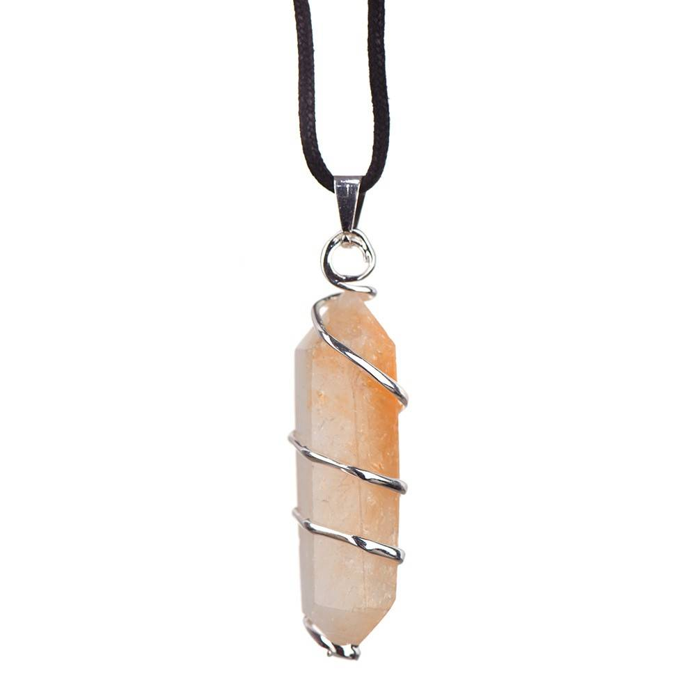 PENDANT Silver Wrapped Citrine