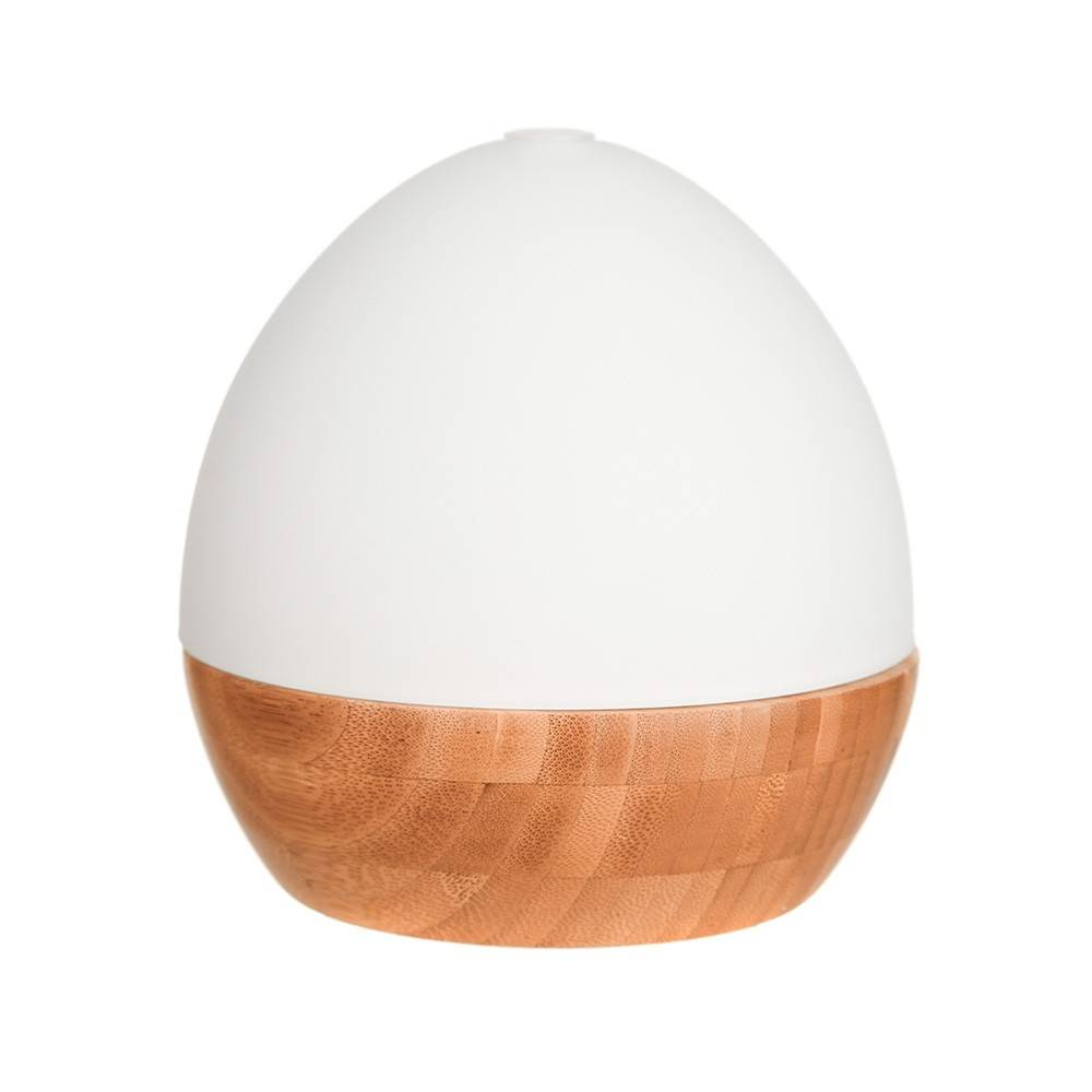 DIFFUSER Ultrasonic Glass with Bamboo Base Egg Shape