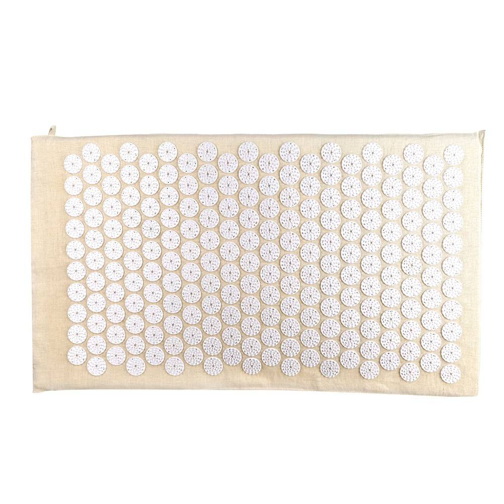 ACUPRESSURE MAT Natural with White Spike 78x45cm