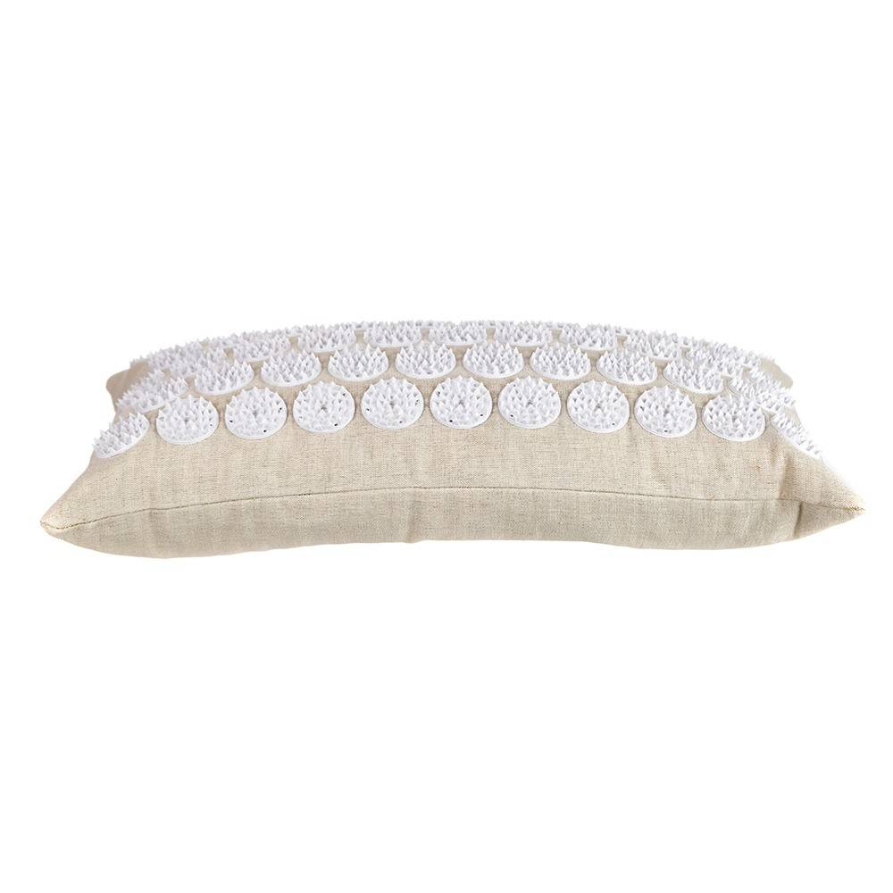 ACUPRESSURE NECK PILLOW Natural with White Spike 44x22cm