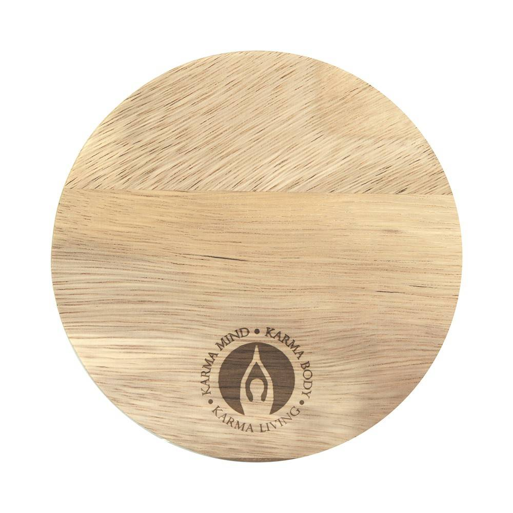 CANDLE PLATE Round Acacia Wood 15cm
