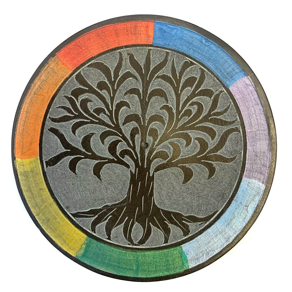 INCENSE HOLDER Tree Of Life Multi Colour