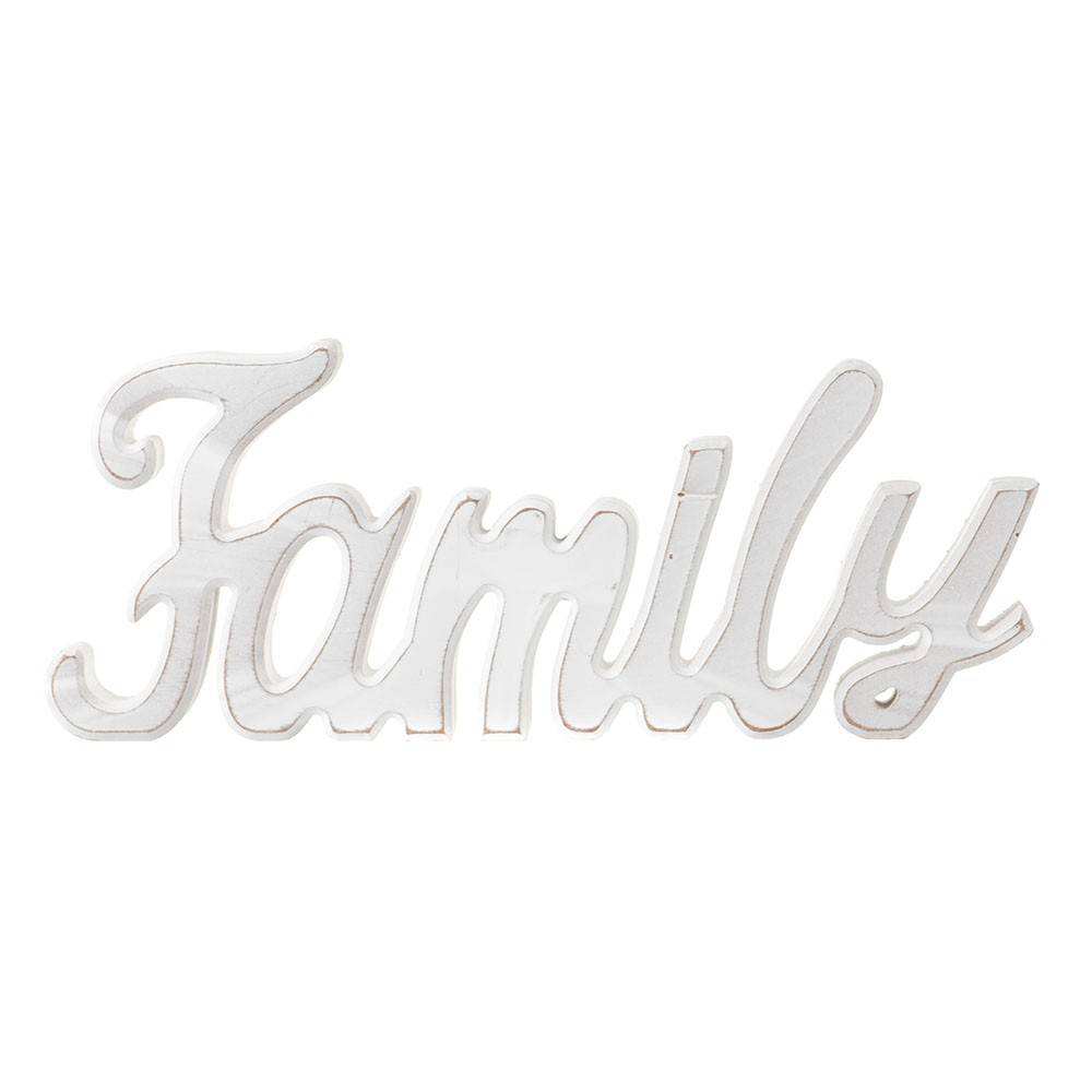 FAMILY Word MDF White 30x11cm