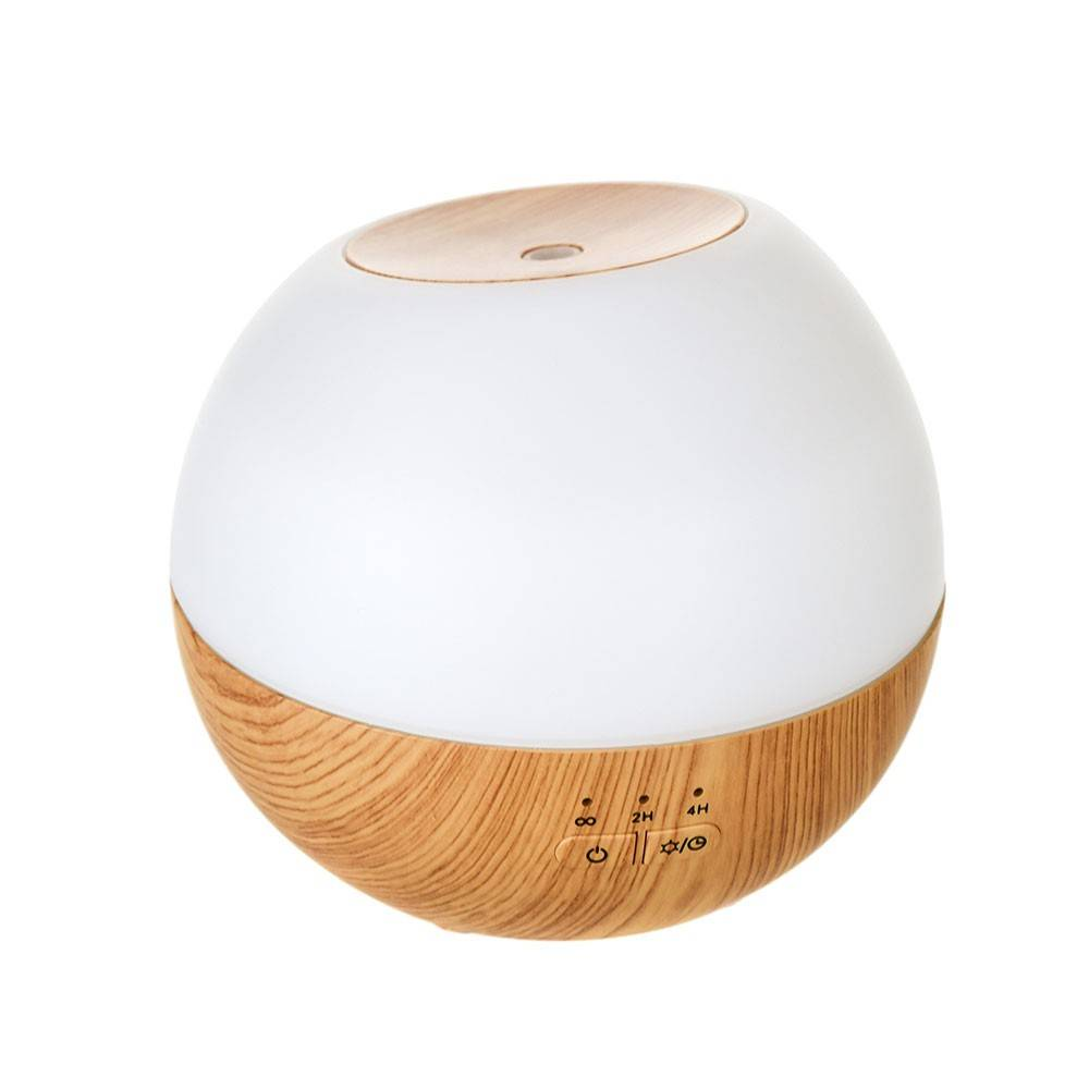 DIFFUSER Ultrasonic Rechargeable White/Wood Grain 13x15cm