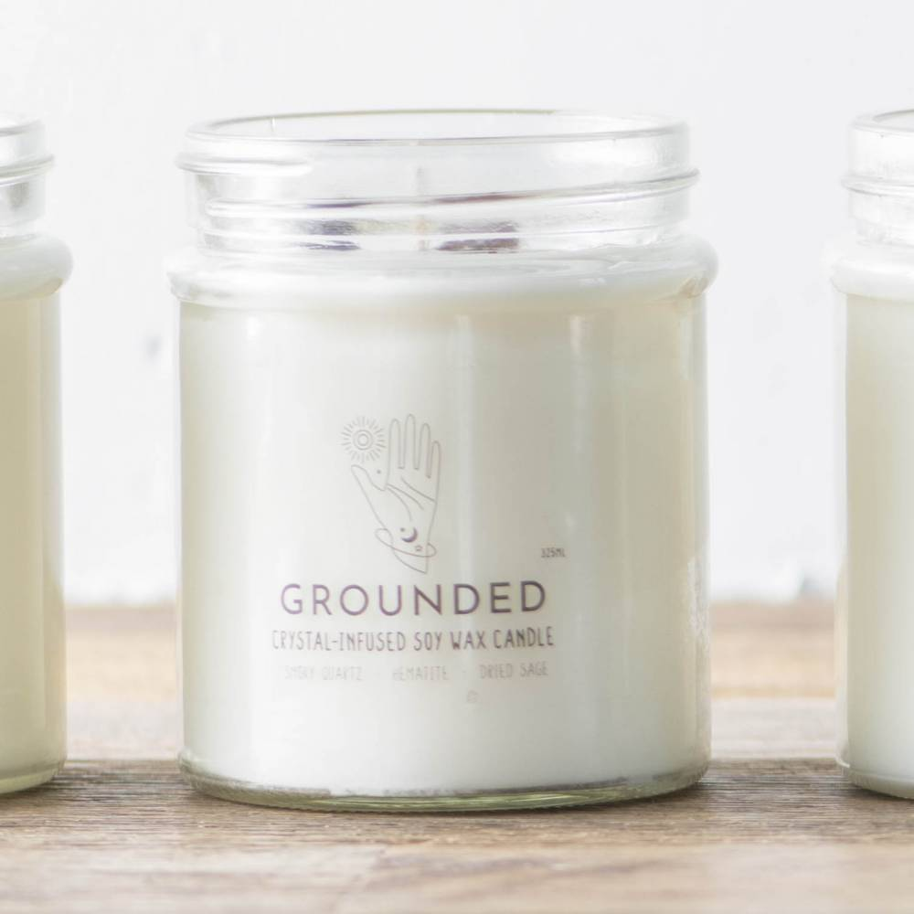 CANDLE Soy Wax/Crystal Grounded 325mL