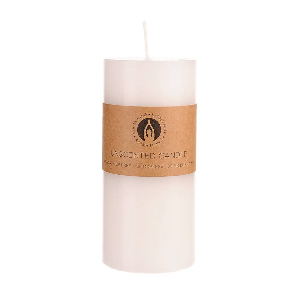 UNSCENTED CANDLE Pillar White 7x15cm