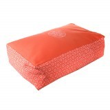 CUSHION Rectangle Coral/White 50x30x15cm