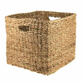 BASKET Hogla Square Cut out Handle 36x30cm