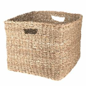 BASKET Hogla Square Cut out Handle 41x32cm