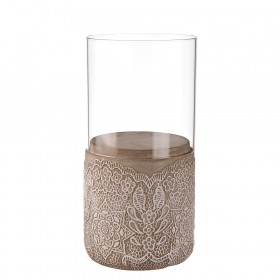 HURRICANE Glass with Cement Base Lace 24cm