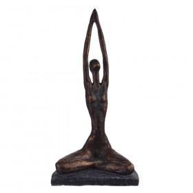 STATUE Yoga Polyresin Hands Above Head