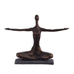 STATUE Yoga Polyresin Hands Outstretched 36x13.25x8cm