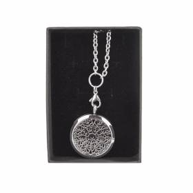 NECKLACE Essential Oil Silver Mandala