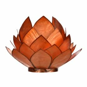 CABBAGE Capiz Tealight Holder Orange