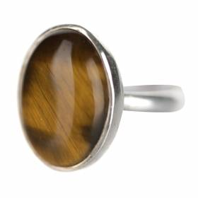 RING Oval Tigers Eye
