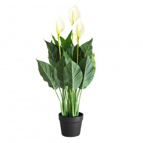 PEACE LILY with Pot 83cm Artificial