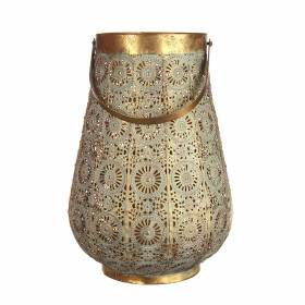 LANTERN Metal with White Wash 27.5x39.5cm