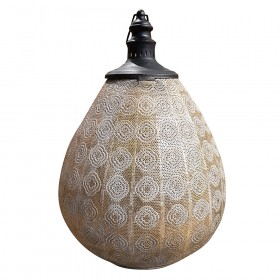 LANTERN Metal Teardrop Gold/Black 47x66.5cm
