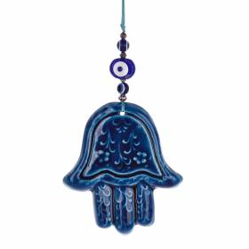 HAMSA Ceramic 6x27cm Hanging W Eye
