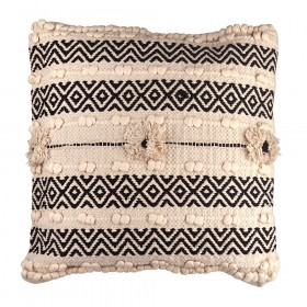 CUSHION Grey/White Urchin Square 45cm