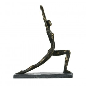 STATUE Yoga Lady Low Lunge 37.8x32cm