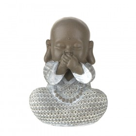 STATUE Monk Speak No Evil Brown/White 16.5cm