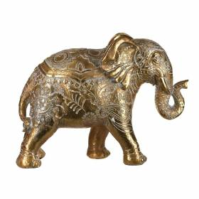 STATUE Elephent Paisley Gold/White 26.5x36cm