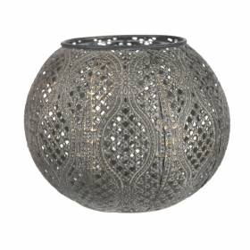 TEALIGHT HOLDER Metal Round Antique Brass 13.5x13.5x10.5cm