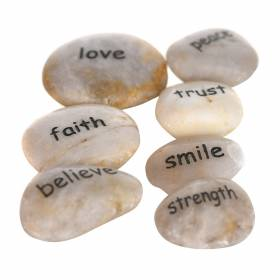 INSPIRATION STONE Word White 5-6cm Assorted