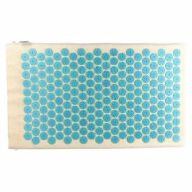 ACUPRESSURE MAT Natural with Turquoise Spike 78x45cm