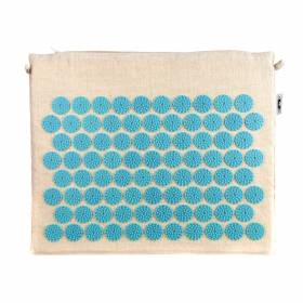 ACUPRESSURE MINI MAT Natural with Turquoise Spike 45x38cm
