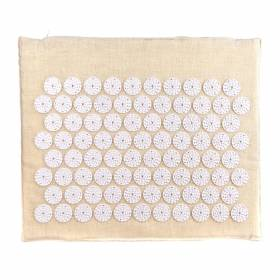 ACUPRESSURE MINI MAT Natural with White Spike 45x38cm