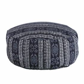 CUSHION Round Navy/White 36x15cm