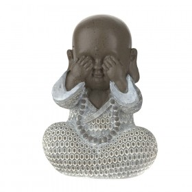 STATUE Monk See No Evil Brown/White 16.5cm