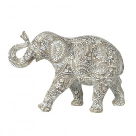 STATUE Elephant Paisley Natural/White 21.5x31cm