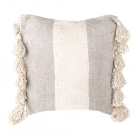 CUSHION Beige Stripe Square 45cm