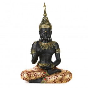 STATUE Buddha Sitting Brown/Red 65x40.5cm