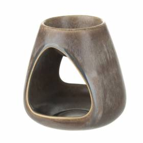 OIL BURNER Brown Volcanic Ceramic 13cm