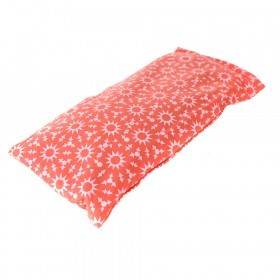 EYE PILLOW Cotton Coral/White 22.5x10.5cm