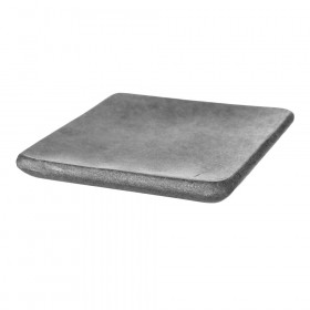 CANDLE PLATE Square Grey Marble with Round Edges 15x15cm