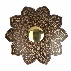 WALL HANGING Floral Copper/Gold 24.5cm