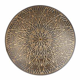 BOWL Decorative Antique Gold Mandala 19.5cm