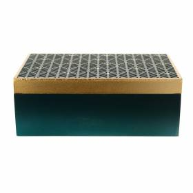 BOX Emerald/Gold 27x17x10cm