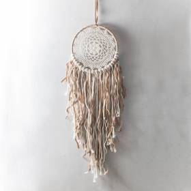 DREAMCATCHER Cream Crochet 22x90cm