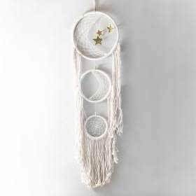 DREAMCATCHER Cream Macrame Moon 32x130cm