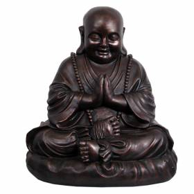 STATUE Buddha Happy Praying Bronze 52cm