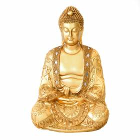 STATUE Buddha Hands In Lap Gold 44x29.5cm