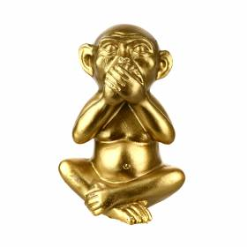 STATUE Monkey Speak No Evil Gold 13cm