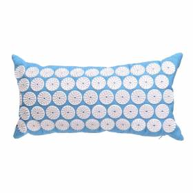 ACUPRESSURE NECK PILLOW Blue with White Spike 44x22cm